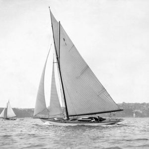 Victorian sloop on Sydney Harbour, 1930