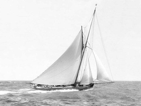 Cutter Sailing on the Ocean, 1910
