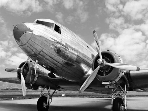 DC-3 in air field, Arizona