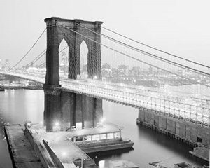 Brooklyn Bridge from Manhattan side, NYC
