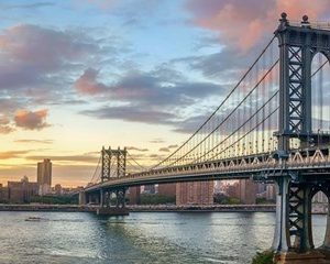 Manhattan Bridge at Sunset, NYC