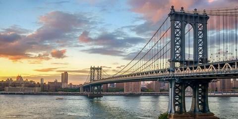 Manhattan Bridge at Sunset, NYC