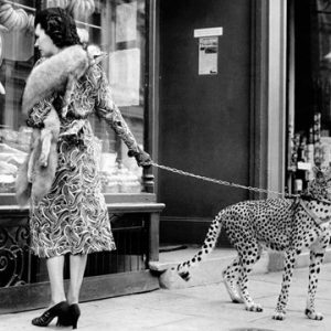 Elegant Woman with Cheetah