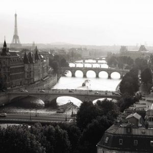 Bridges over the Seine River, Paris