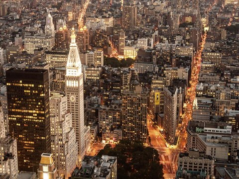 Aerial View of Manhattan with Flatiron Building, NYC