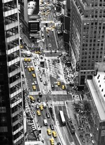Yellow Taxi in Times Square, NYC
