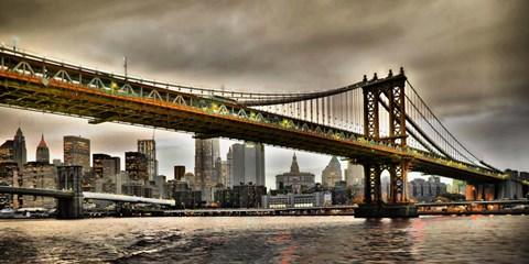 Manhattan Bridge and New York City Skyline, NYC