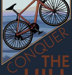 Conquer The Hill Bicycle Ad