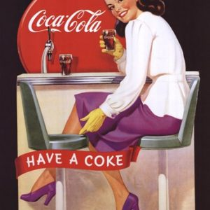 Coca-Cola Lady in Purple