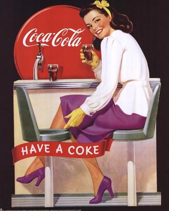Coca-Cola Lady in Purple