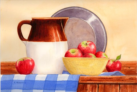 Apples In Yellow Bowl