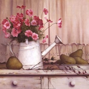 Pink Flowers And Pears
