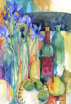Table Scape With Irises