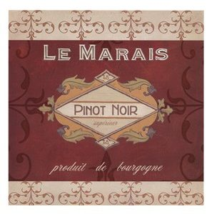Burgundy Wine Labels I