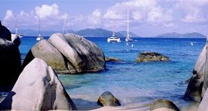 Boulders on a coast, The Baths, Virgin Gorda, British Virgin Islands