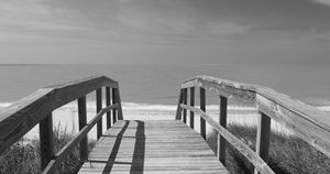 Boardwalk on the beach, Gasparilla Island, Florida, USA