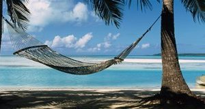 Hammock on the beach, Cook Islands South Pacific