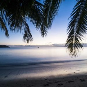 Sunset over the beach, Naviti, Yasawa, Fiji, South Pacific