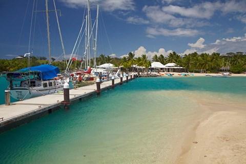 Yachts tied up at Musket Cove Island Resort, Malolo Lailai Island, Mamanuca Islands, Fiji