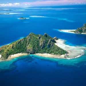 Aerial of Maolo Island, Mamanuca Islands, Fiji