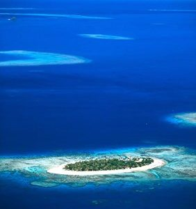 Aerial of Treasure Island Resort, Mamanuca Island Group, Fiji