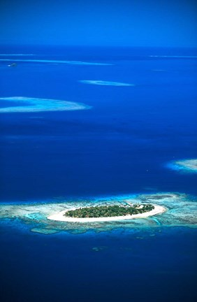 Aerial of Treasure Island Resort, Mamanuca Island Group, Fiji