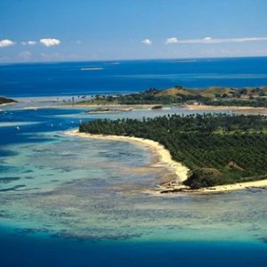 Aerial View of Malolo Lailai Island, Mamanuca Islands, Fiji