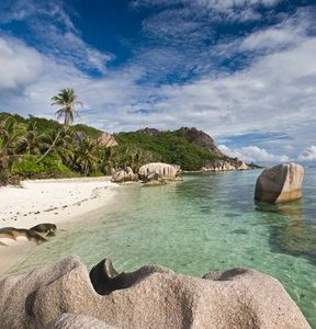 Anse Source D'Argent Beach, L'Union Estate Plantation, La Digue Island, Seychelles