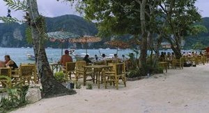 Restaurant on the beach, Ko Phi Phi Don, Phi Phi Islands, Thailand