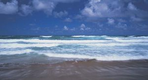 Surf on the beach, Barbados, West Indies