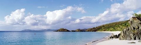 High angle view of the beach, Trunk Bay, St John, US Virgin Islands