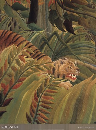 Detail from 'Tiger in a Tropical Storm (Surprised!), 1891'